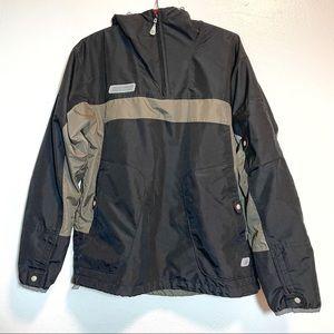 Columbia 1/4 Zip Hooded Wind Breaker Rain Jacket